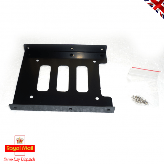 """HDD Caddy Mounting Bracket for Desktop PC 3.5"""" Bay Adapter to 2.5"""" SSD or HDD"""
