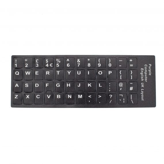 Universal UK QWERTY Keyboard Key Cap Replacement Character Vinyl Decal Stickers