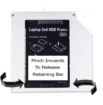 Universal 2nd HDD SSD Hard Disk Drive Caddy Adapter Pata IDE to SATA 12.7 mm