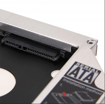 """9.5 mm to 2.5"""" HDD, 2nd HDD, DVD RW Bay Caddy Adapter"""