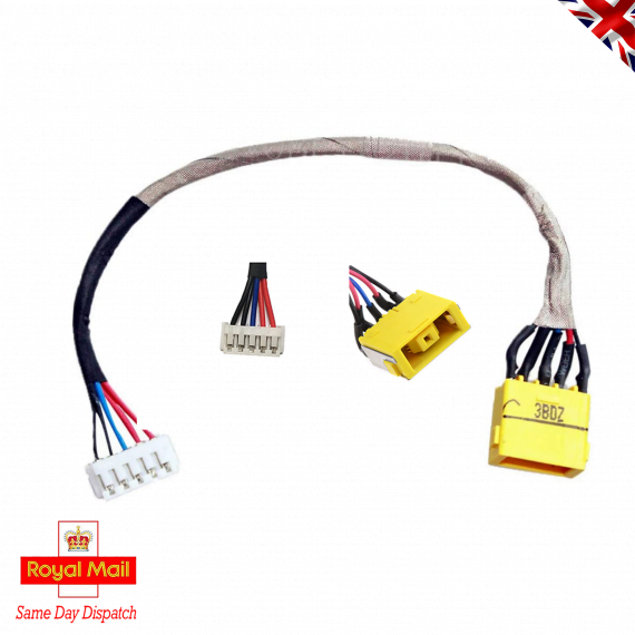 DC-in Jack for Lenovo Ideapad G700 G700-5937 G700-5938 IDEAPAD Z710 Z710-20250 G710 PN 202520 90202793, DC Power Jack Harness Port Connector Socket with Wire Cable.