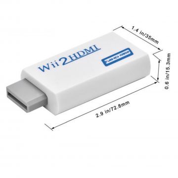 Wii to HDMI 1080P HD and Audio Output Converter Adapter Wii To HDMI   3.5mm Jack